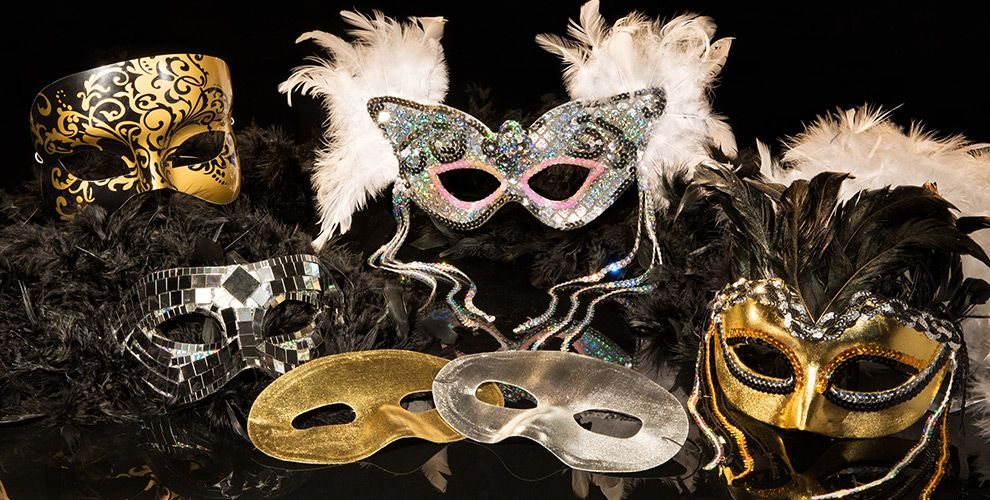 mask party new year themes