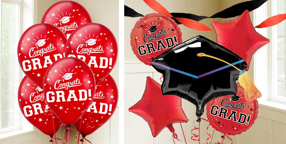 School Colors Graduation Balloons