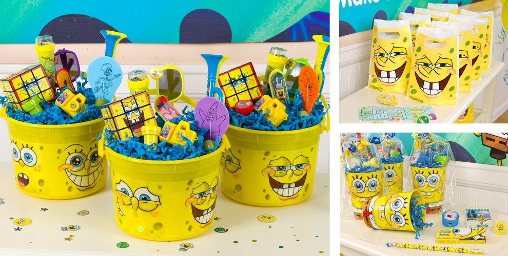 Spongebob party favors tattoos stickers toys games favor spongebob party favors tattoos stickers toys games favor bags more party city negle Image collections