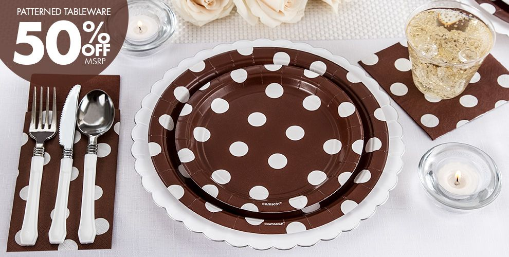 Chocolate Brown Solid Color Tableware