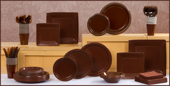 Solid Chocolate Brown Tableware #1