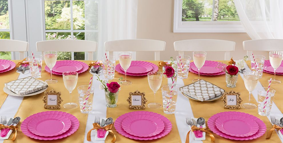 Bright Pink Wedding Party Supplies