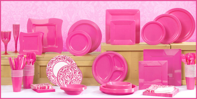 Solid Bright Pink Tableware #1