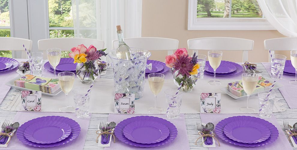 Purple Solid Color Tableware