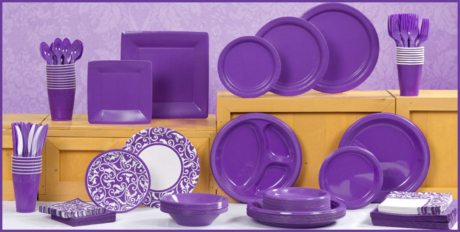 Solid Purple Tableware #1