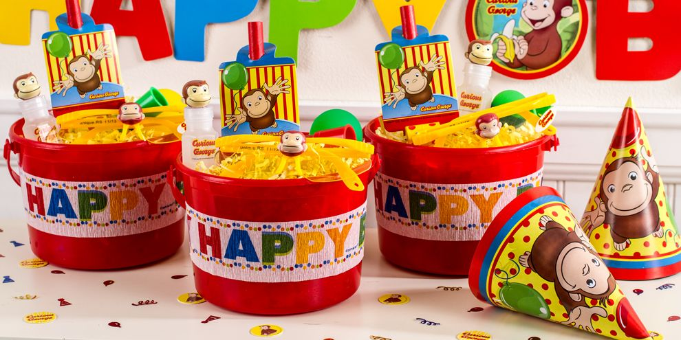 curious george party favors - bubbles, glasses & more - party city, Party invitations