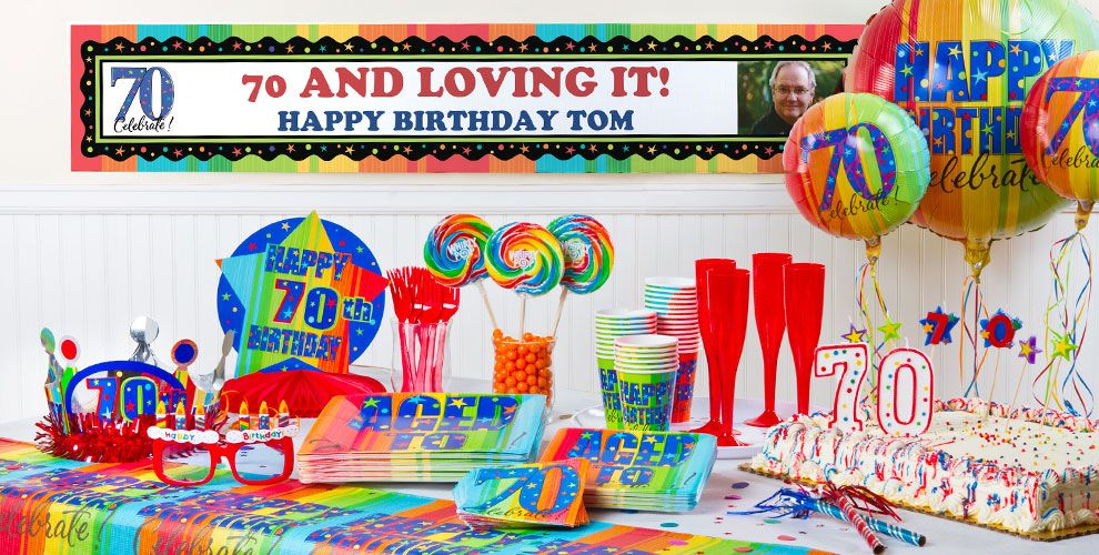 Aged To Perfection 70th Birthday Party Supplies