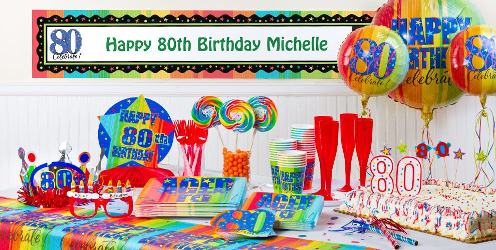 Aged To Perfection 80th Birthday Party Supplies