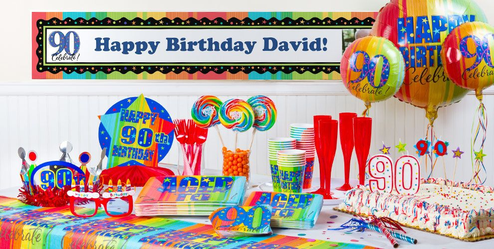 Aged To Perfection 90th Birthday Party Supplies