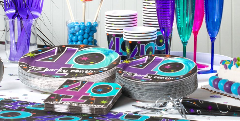 The Party Continues 40th Birthday Party Supplies