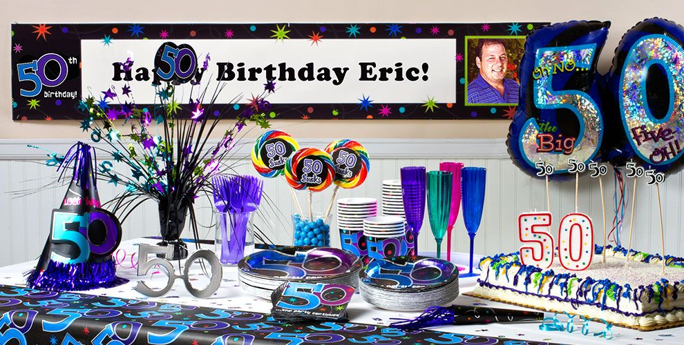 The party continues 50th birthday party supplies party city for 50th party decoration