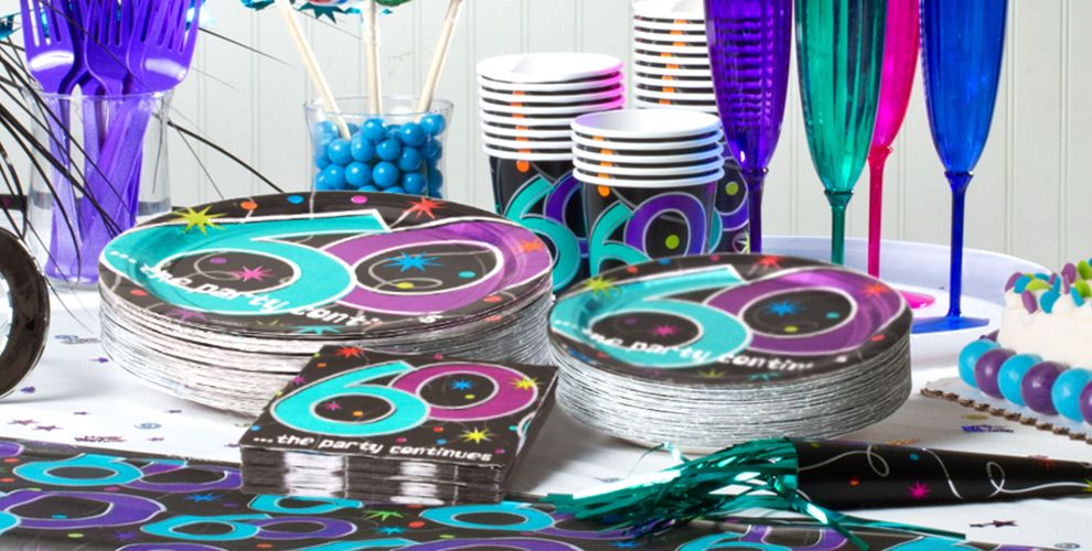 The party continues 60th birthday party supplies party city for 60th birthday party decoration