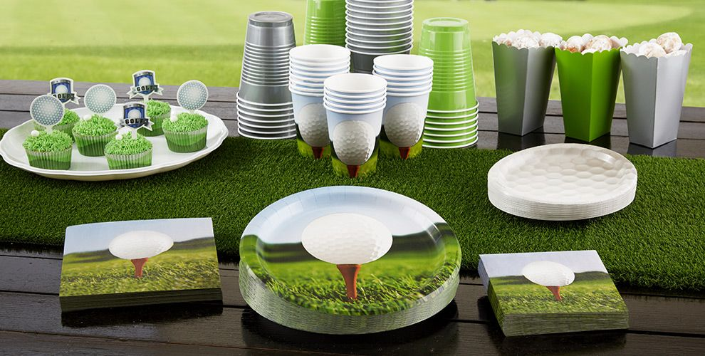 Tee Time Golf Party Supplies