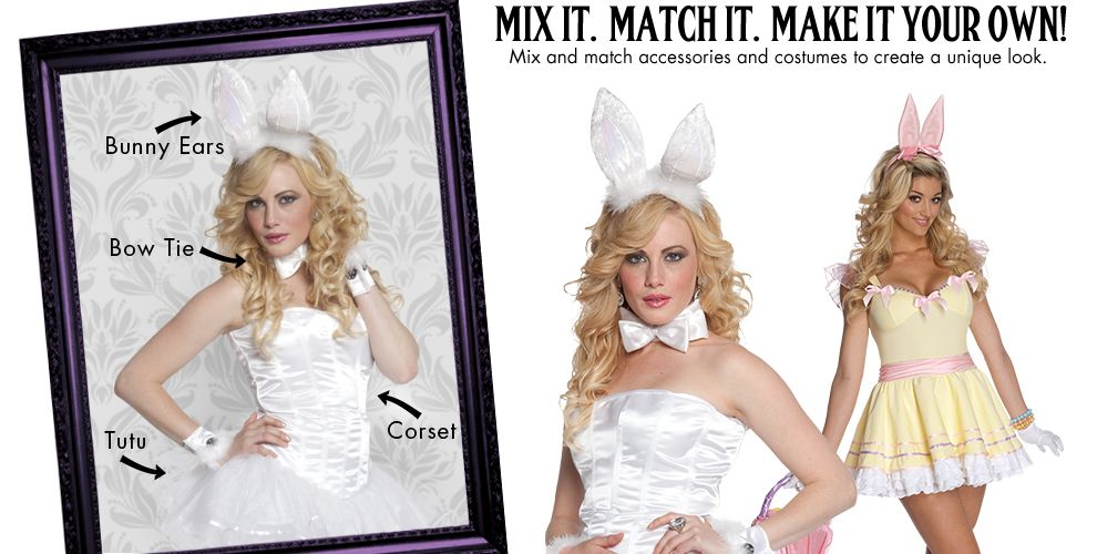 Fluffy Bunny Womens Mix & Match #1