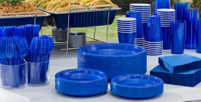 Big Party Pack Tableware ... & Big Party Pack Solid Color Tableware | Party City