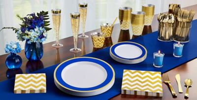 ... Royal Blue Tableware ...