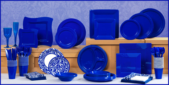 Solid Royal Blue Tableware #1