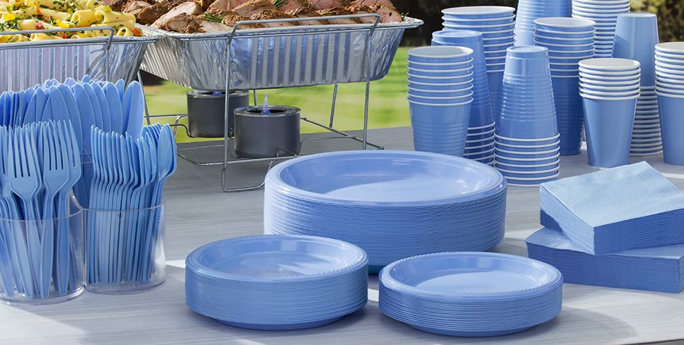 Pastel Blue Solid Color Tableware