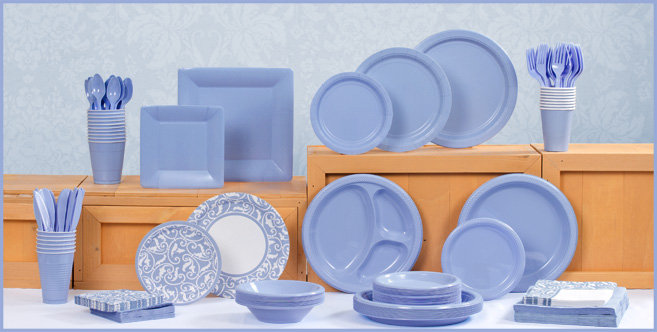 Solid Pastel Blue Tableware #1