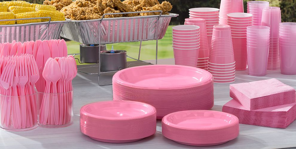 Pink Solid Color Tableware