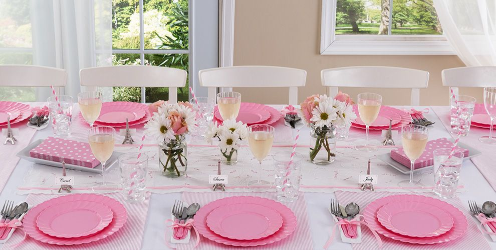 Pink Wedding Party Supplies