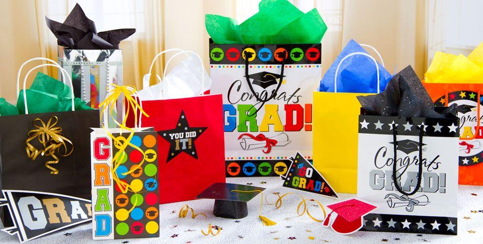 Graduation Gift Bags & Gift Wrap — Congrats Grad 2017
