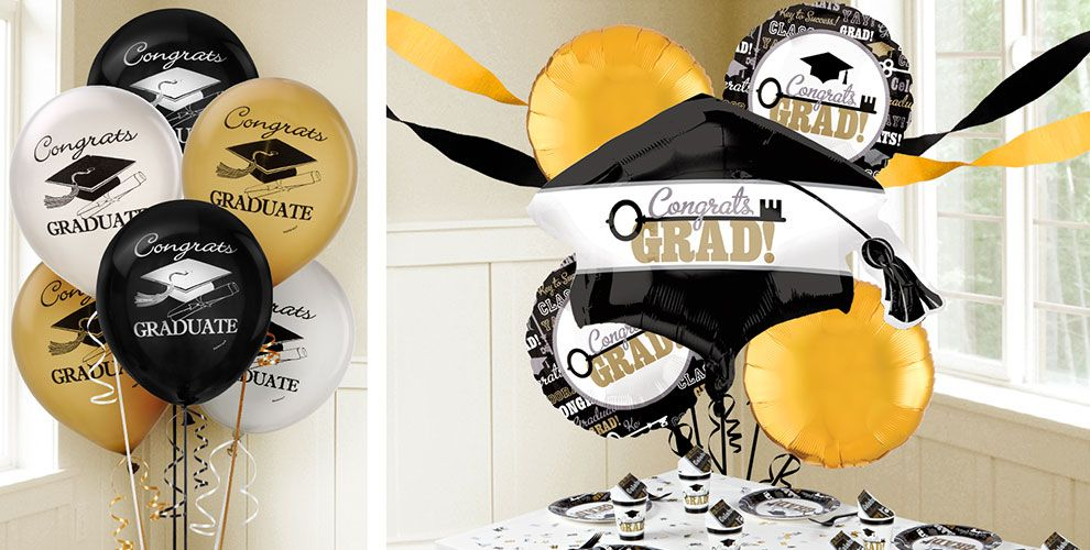 Gold Graduation Balloons