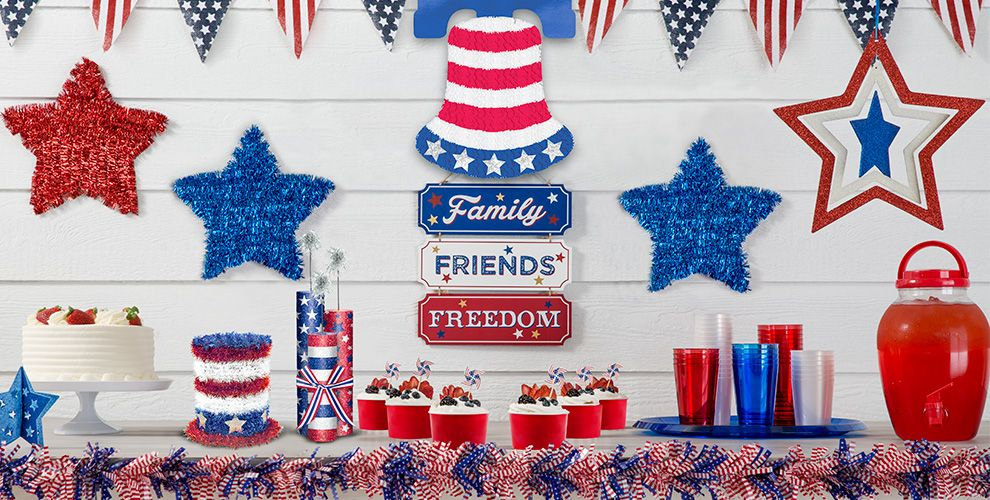 4th of july decorations decor party city for Patriotic welcome home decorations