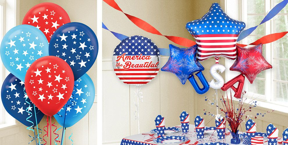 4th of july decorations decor party city for 4th of july party decoration