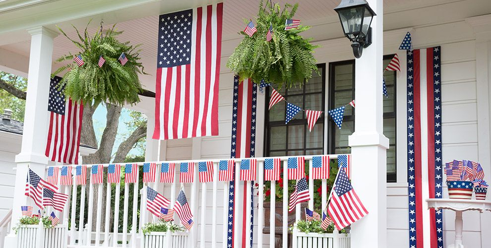 Patriotic decorations indoor outdoor patriotic decor for 4th of july decorating ideas for outside