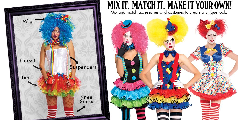 Sassy Clown Womens Mix & Match #1
