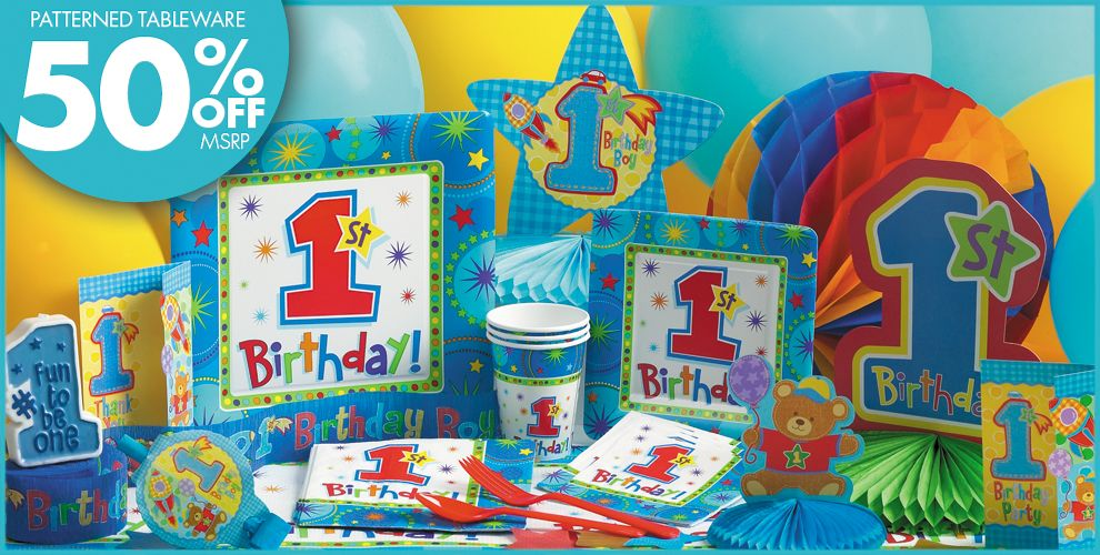 One-Derful Boy 1st Birthday Party Supplies