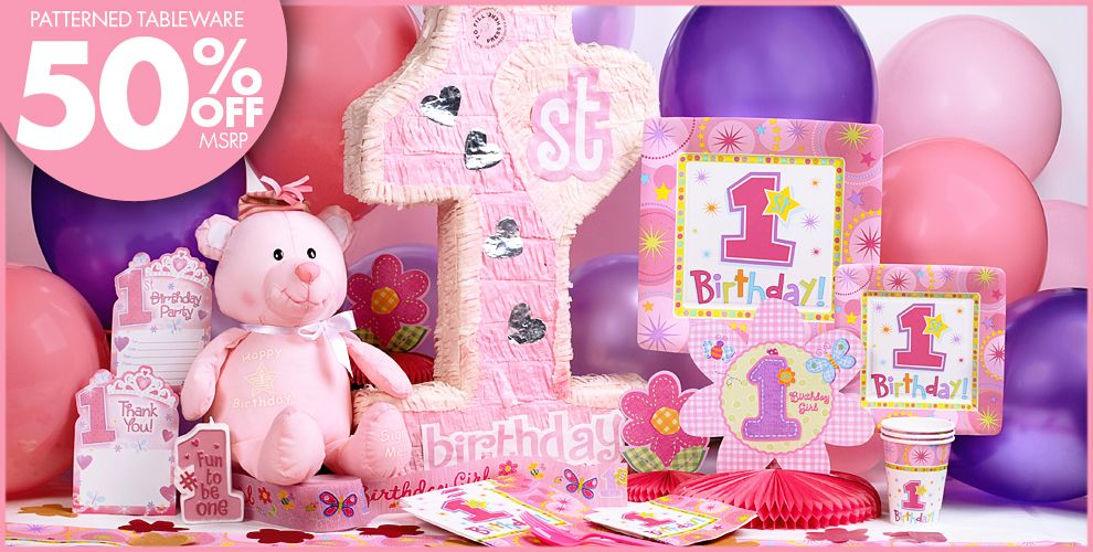 One-Derful Girl 1st Birthday Party Supplies