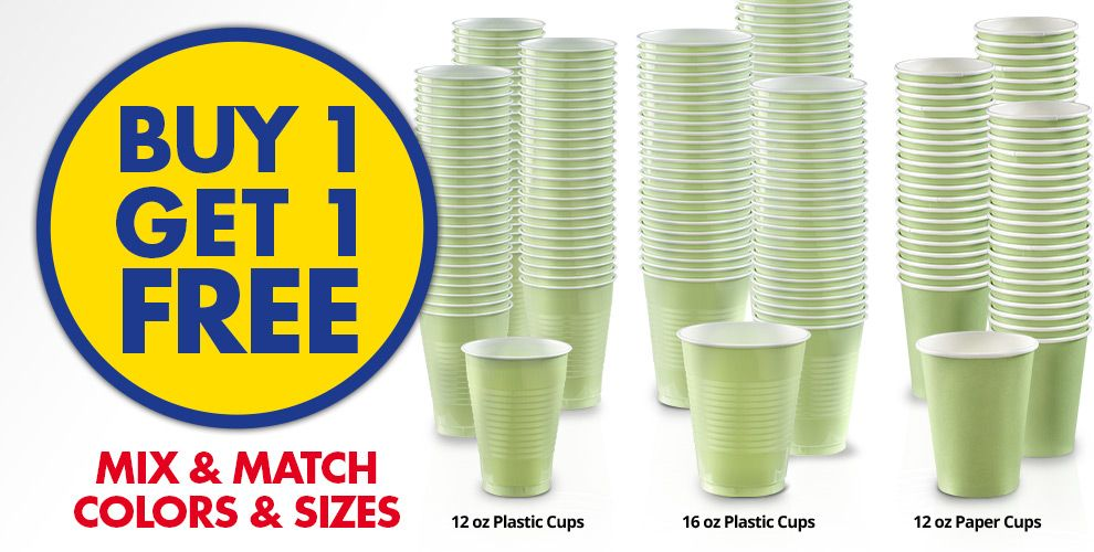 Buy 1 Get 1 Free – Mix & Match Colors &amp Sizes — Leaf Green Tableware
