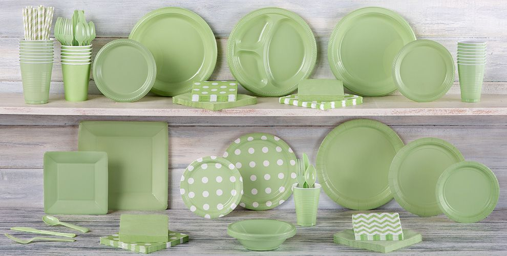 Leaf Green Solid Color Tableware
