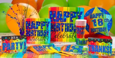 18th Birthday Party Supplies Image Inspiration of Cake and