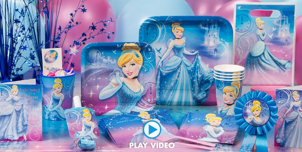 Cinderella Birthday Tableware
