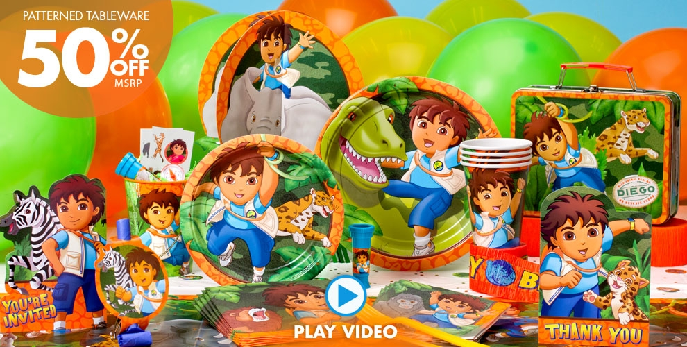 Go Diego Go Party Supplies #1