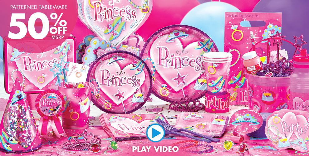 Princess Party Supplies #1