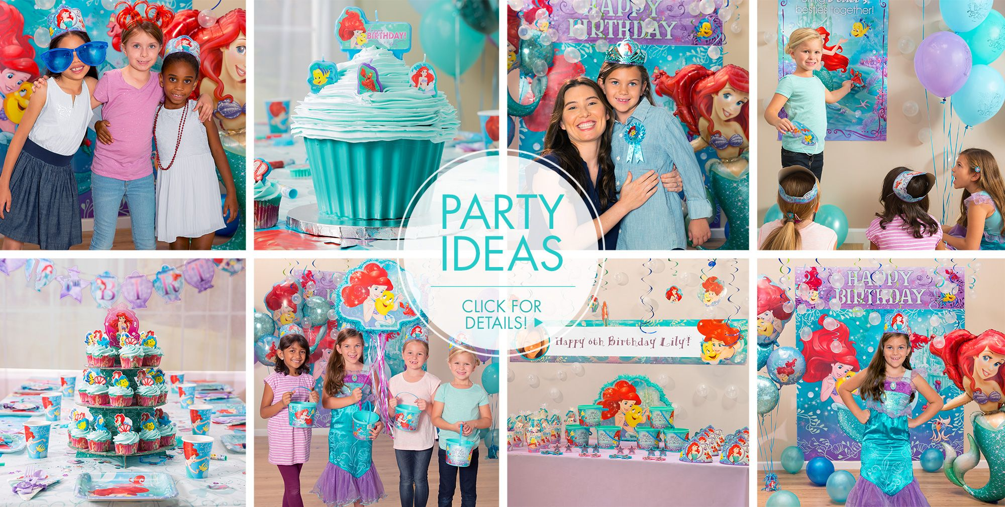 Little mermaid party supplies little mermaid birthday for Ariel birthday decoration ideas