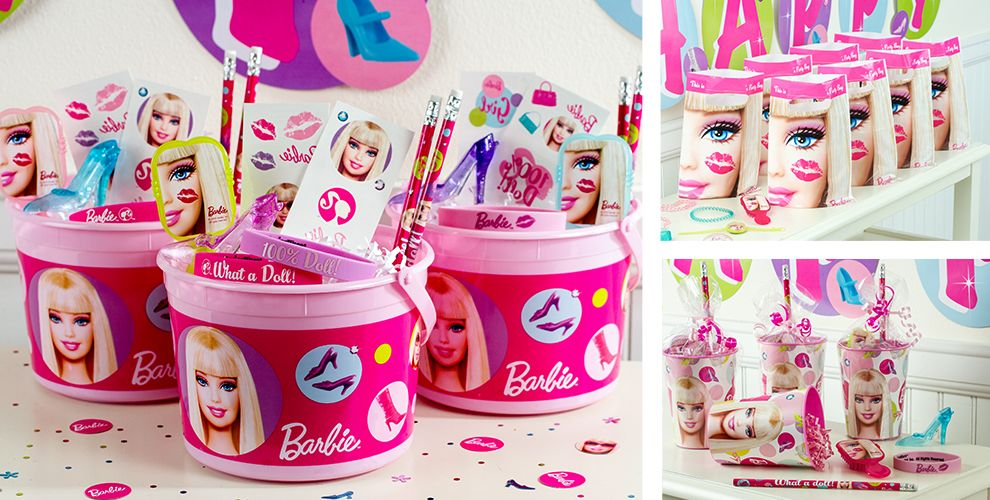Barbie Party Table Decorations