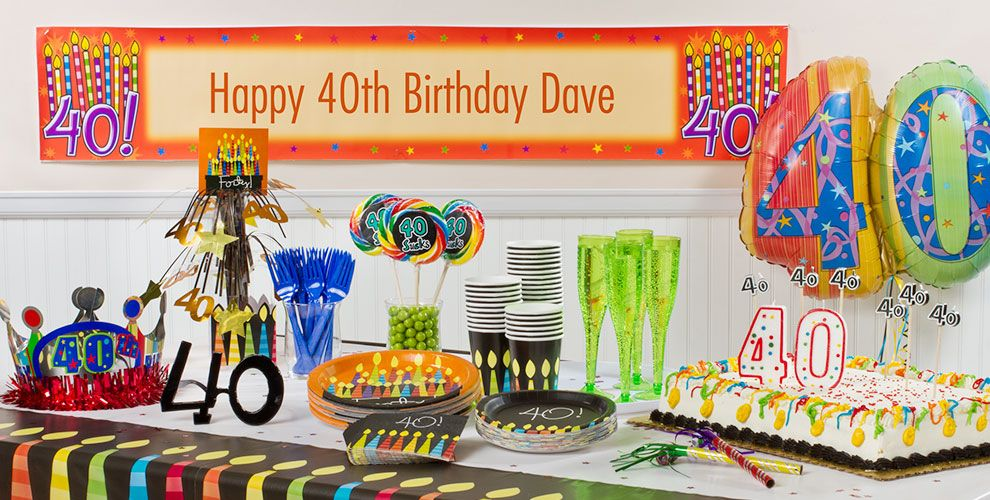 Great 40th Birthday Party Supplies
