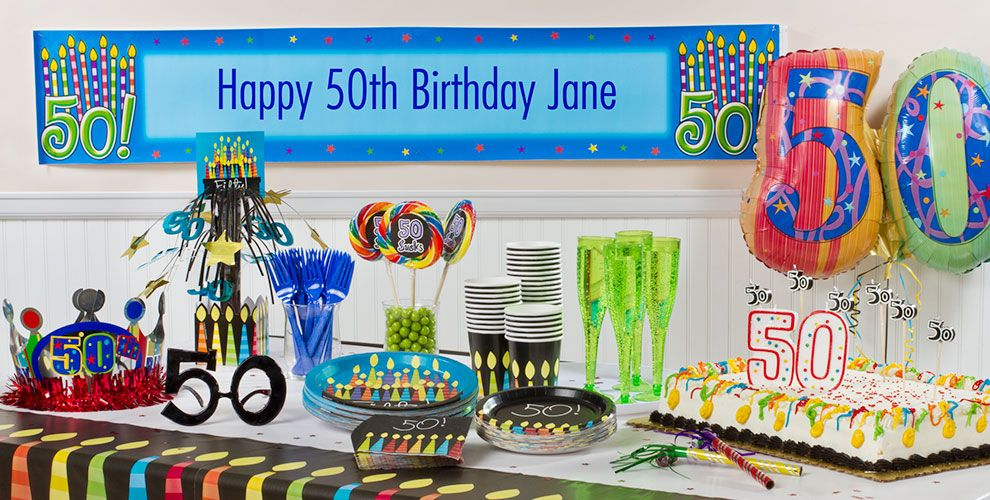 Great 50th Birthday Party Supplies