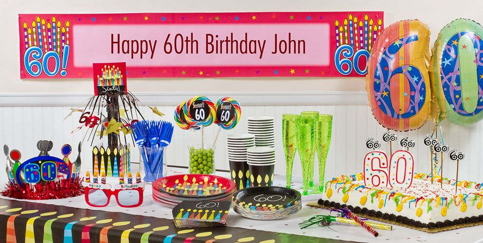 Great 60th Birthday Party Supplies