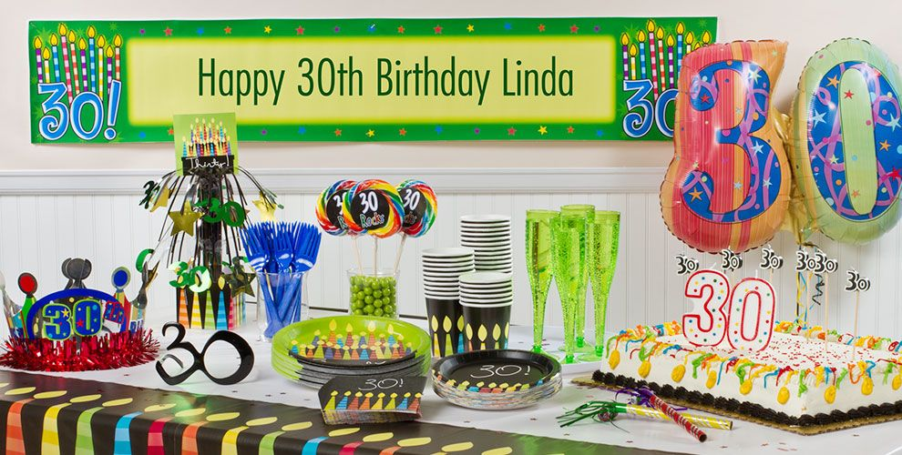 Great 30th Birthday Party Supplies