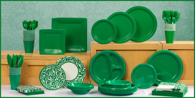 Festive Green tableware #1