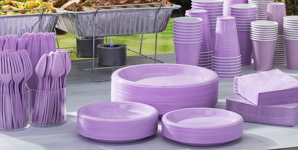 Lavender Solid Color Tableware