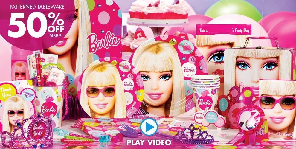 Barbie Party Supplies #1