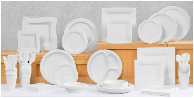 solid white tableware #1