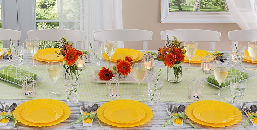 Sunshine Yellow Solid Color Tableware
